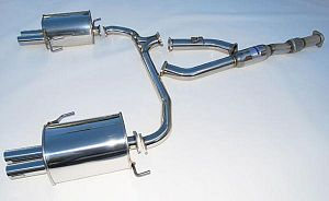 Invidia Q300 Turbo back Exhaust suit Liberty BL5 Straight Cut Tip pollished tips