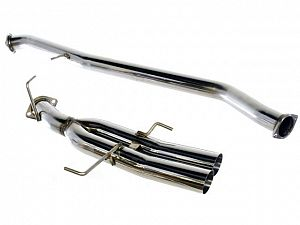 DMAX Stainless Steel Exhaust - Dual Tip Straight Pipe Style - S14/S15