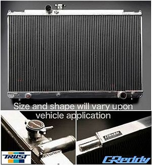 TRUST GReddy Radiator TW-R for SILVIA PS13 1991/1-1993/10 SR20DET
