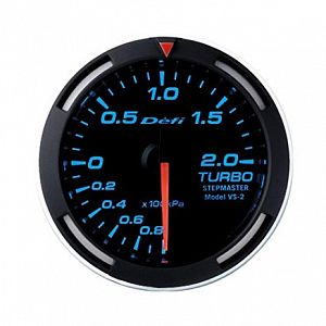 Defi Racer 200kPa Boost Gauge Blue Face SI Models -100kPa to +200kPa