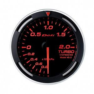 Defi Racer 200kPa Boost Gauge Red Face SI Models -100kPa to +200kPa