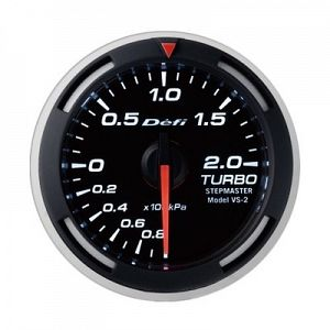 Defi Racer 200kPa Boost Gauge White Face SI Models -100kPa to +200kPa