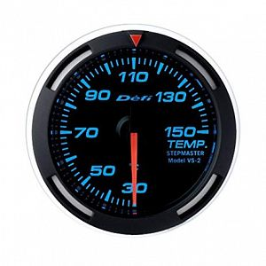Defi Racer Temperature Gauge Blue Face SI Models 30 - 150 deg C