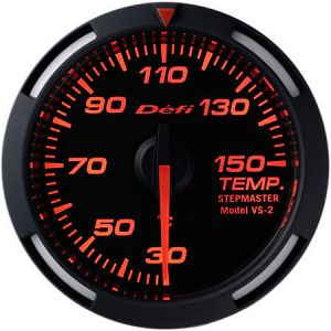 Defi Racer Temperature Gauge UNIVERSAL Red Face SI Models 30 - 150 deg C