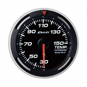 Defi Racer Temperature Gauge White Face SI Models 30 - 150 deg C