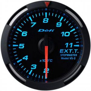 Defi Racer Exhaust Temperature Gauge Blue Face SI Models 200-1100 deg C