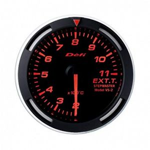 Defi Racer Exhaust Temperature Gauge Red Face SI Models 200 - 1100 deg C