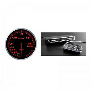 Defi ADVANCE BF 200kPa Boost Gauge & Control Unit Set Amber / Red Face