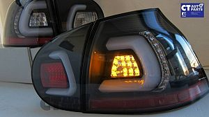 Black 3d Full LED Tail Lights Volkswagen Vw Golf V 03-08 GTI Gt R32 Taillight