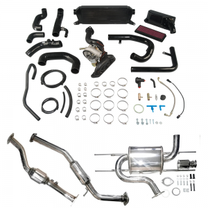 AVO Stage 2 Turbo Kit with Exhaust, OEM Style BOV, Panel Filter and Power+ Reflash Tool (16+ MX-5)