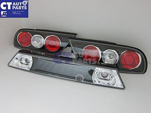 Black Altezza Tail Lights + Garnish For 91-98 Nissan 180SX RPS13