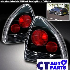 Black Altezza Tail Lights For 92-96 Honda Prelude Vti Vtir Sir H22a