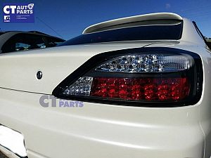 Black Sequential LED Tail Lights 99-02 Nissan Silvia 200sx S15 Spec R Yashio Style