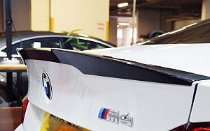 Carbon Fiber Rear Trunk Boot Lip Spoiler For 14-17 Bmw M4 F82 Coupe