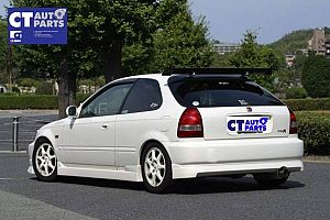 Charge Speed Style Rear Lips For 96-00 Honda Civic EK 3d Hatch