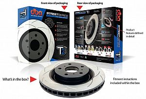 DBA T2 Front Brake Rotor Slotted Nissan S14/S15 Silvia