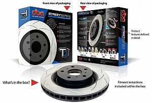 DBA T2 Front Brake Rotor Slotted GT86/BRZ (Pair)