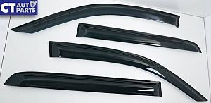 Toyota Hilux REVO Dual Cab 15-18 Tape-On Window Visor / Weather Shield