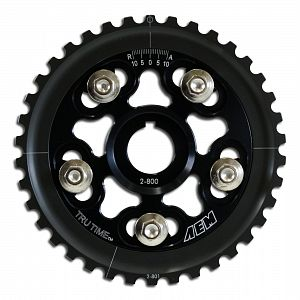 AEM Tru-Time Adjustable Cam Gear. Black.