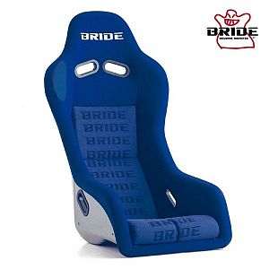 BRIDE Artis III Blue Logo Full Bucket Seat Silver FRP Shell
