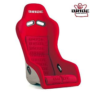 BRIDE Artis III Red Logo Full Bucket Seat Silver FRP Shell