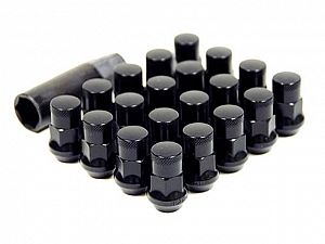 Muteki SR35 Closed End Lug Nuts M12x1.25 - 35mm - Black