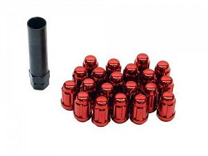 Muteki Close Ended Wheel Lug Nuts Red 12x1.25mm 20pcs