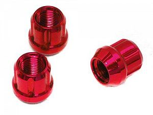 Muteki Open Ended Tuner Lightweight Lug Nuts M12x1.5mm Red 20pcs