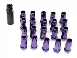 Muteki SR48 Extended Racing Lug Nuts M12x1.25mm Purple 20pcs