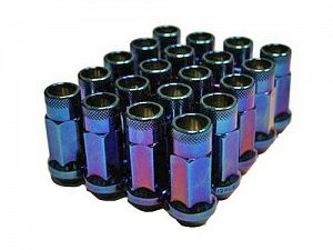 Muteki SR48 Extended Racing Lug Nuts M12x1.25mm Burnt Blue 20pcs
