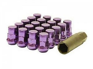 Muteki SR35 Closed End Lug Nuts 16+4 Lock Set M12x1.5mm 35mm Purple
