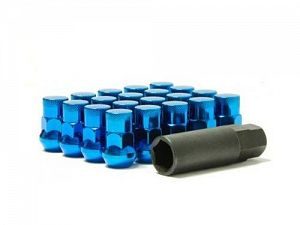 Muteki SR35 Closed End Lug Nuts 16+4 Lock Set M12x1.5mm Blue