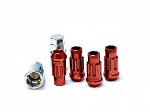 Muteki SR48 Extended Racing Lock Nut Set M12x1.5mm Red 4pcs