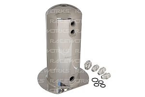 Raceworks 2.5L Surge Tank AN-8 Single Outlet - Polished