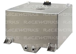 Raceworks Fuel Cell with Sender 38 Litres (10 Gallon) - Polished