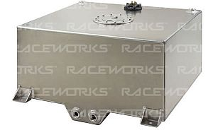 Raceworks Fuel Cell with Sender 57 Litres (15 Gallon) - Polished